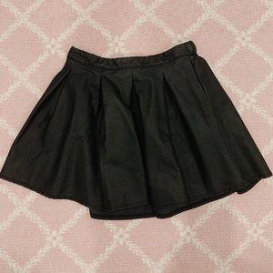 a&f girls (p)leather skater skirt